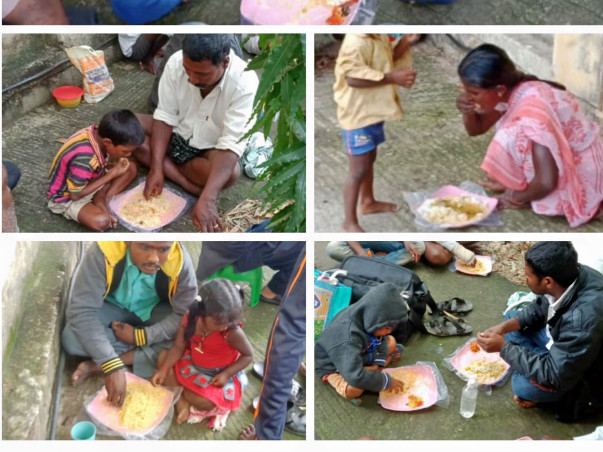 Help serving free food to the hospital  Needy & poor patient attenders