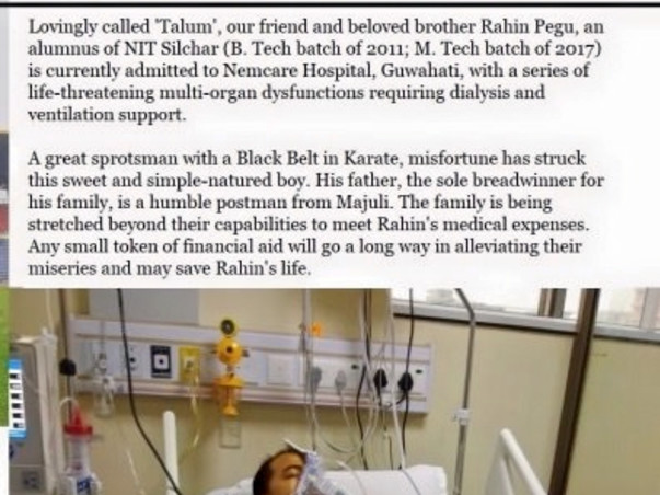 Help Rahin Pegu Fight Battles In The Hospital