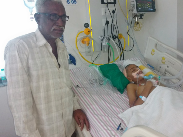 13-year-old Abdul is suffering in pain due to bleeding in the brain