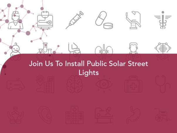 Join Us To Install Public Solar Street Lights