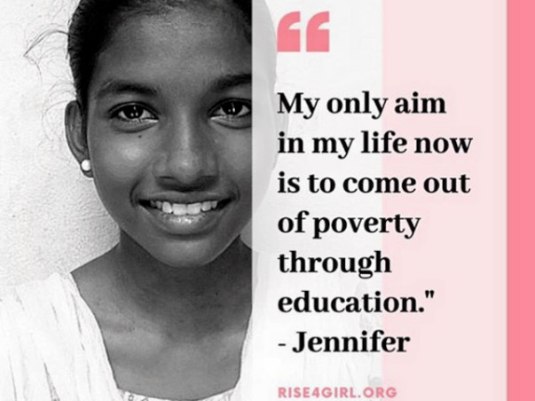Rise4Girl - Help girls like Jennifer go to school!
