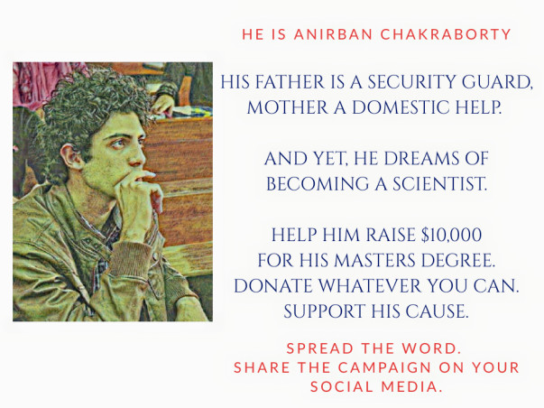 Help Anirban get his Masters degree