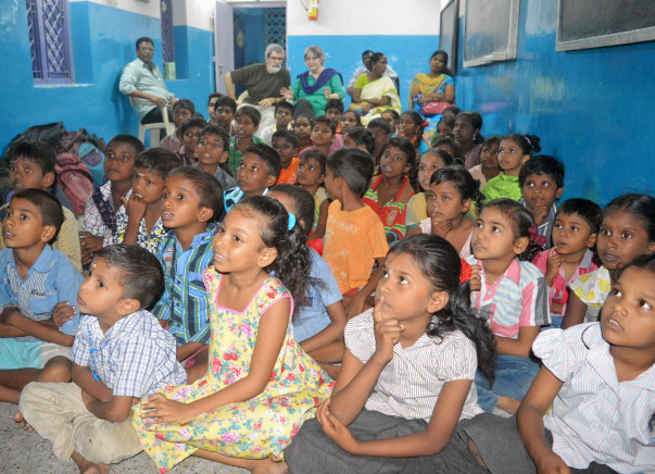 Free After school tuition centres for slum children in North Chennai