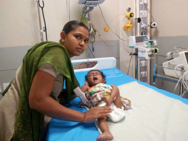 Help 5-month-old Keerthana fight a severe heart disease