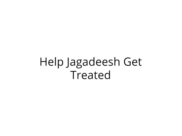 Help Jagadeesh Recover from Severe Injuries