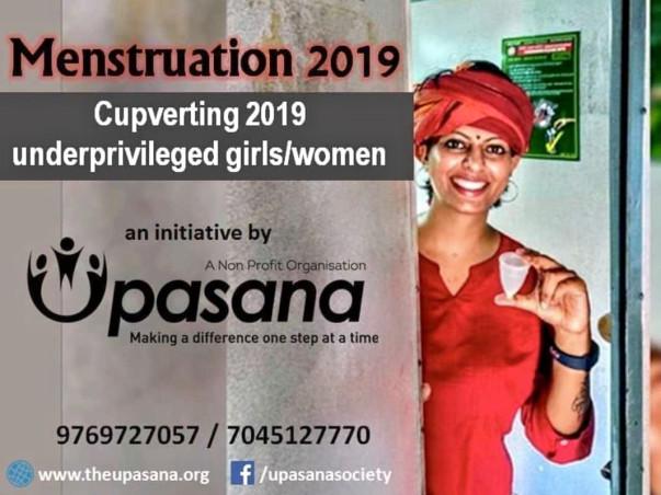 Menstrual Cups for 2019 underprivileged girls/women