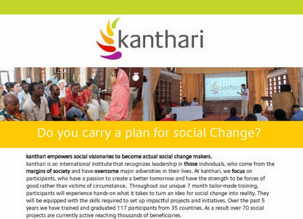 Help me to attend Kanthari fellowship program to solve farmer issues