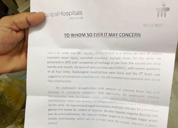 Help Moorthy Afford His Medical Treatment