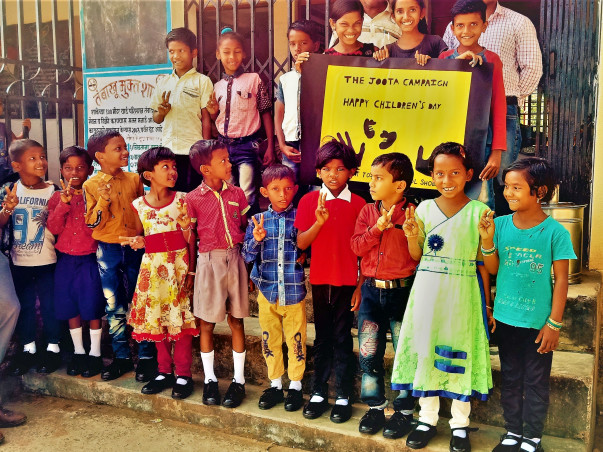 Help us providing shoes to every school going child...