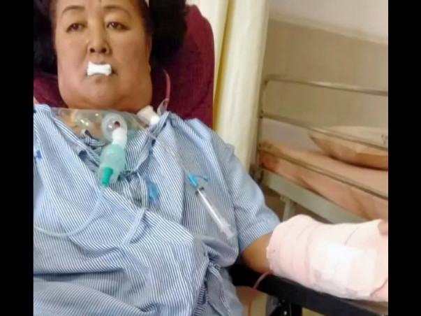 Support Lakshmi Mokta suffering from Carcinoma left lateral.
