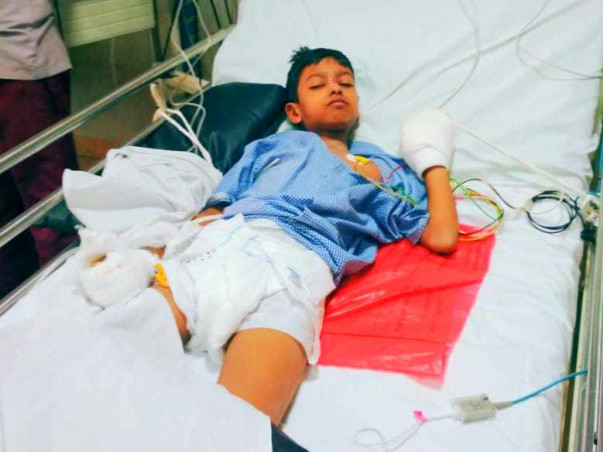 Help Vishnu undergo Typhoid Treatment