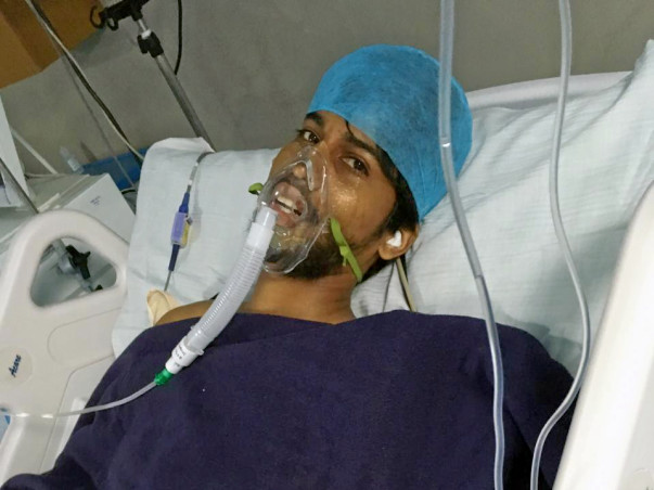 Support Yogesh to recover from accident