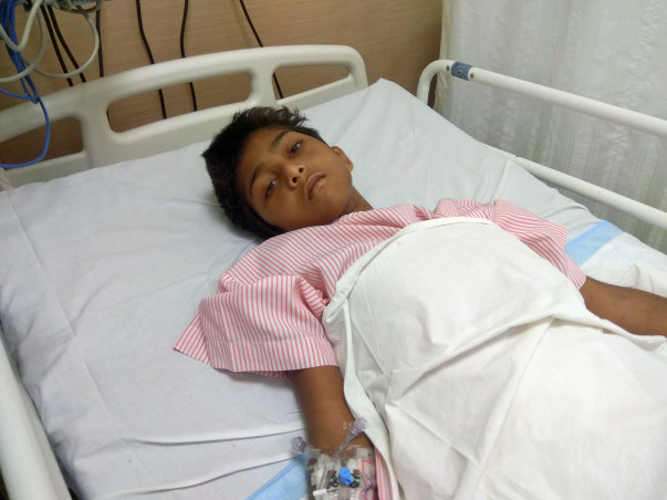 12-year-old Jutur met with a severe road accident and needs our help