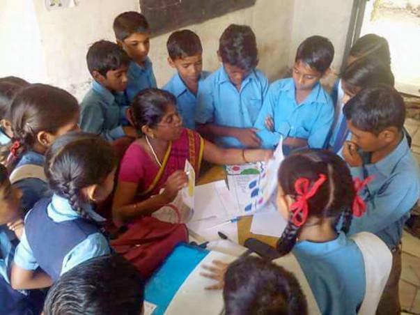 Help children to develop Skills through Painting,Story writing, Slogan