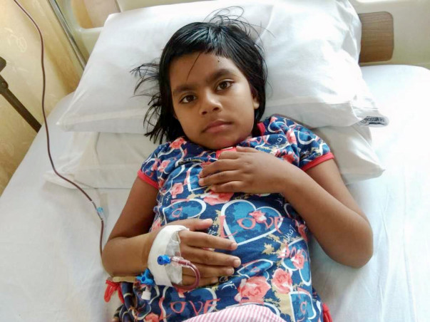 Please save Aishika as she is suffering from beta thalassemia