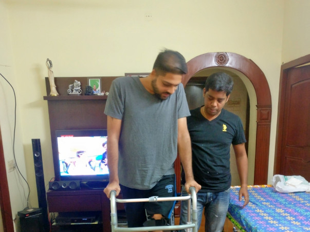 Help Satish for his physiotherapy treatment