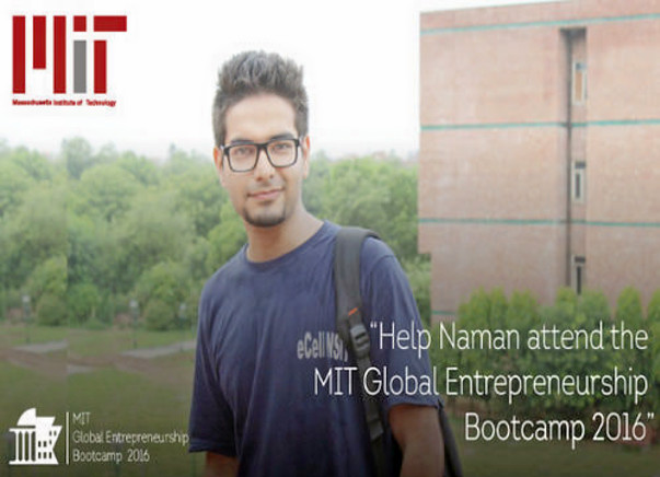 Help a Student Entrepreneur to reach MIT