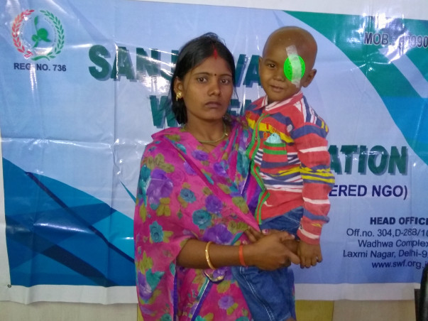 4-Year-Old Child has to go through eye operation and 12 chemotherapy.