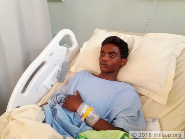 14-year-old Sujay is suffering in pain due to Pneumonia
