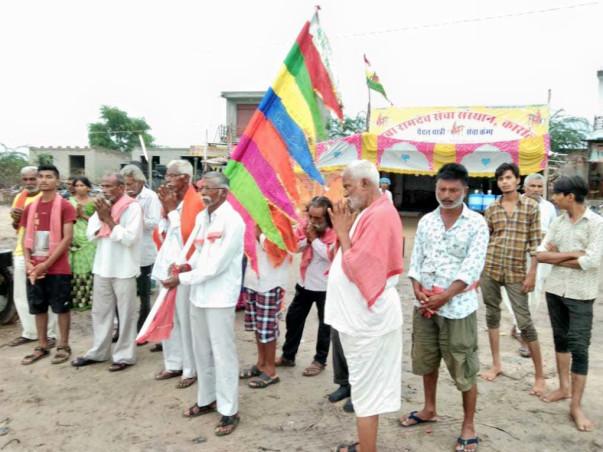 रामदेवरा पैदल यात्रियों के लिए राम rashora हेतु दान दे।
