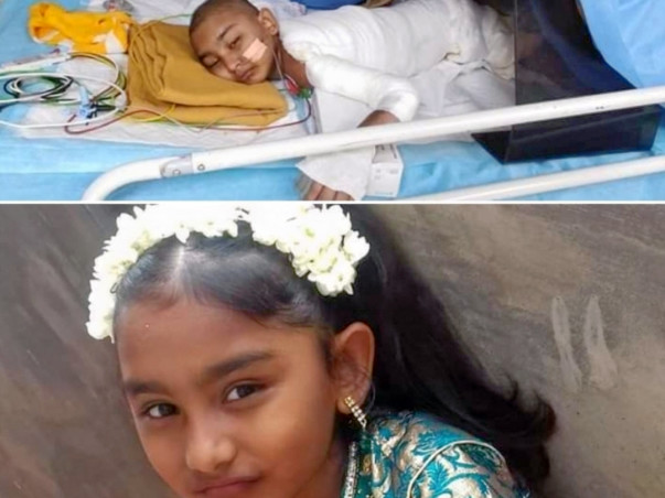 Rafana Aalia (age 10) was severely affected by a fire