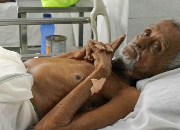Urgent Treatment for 85 years old Grandpa