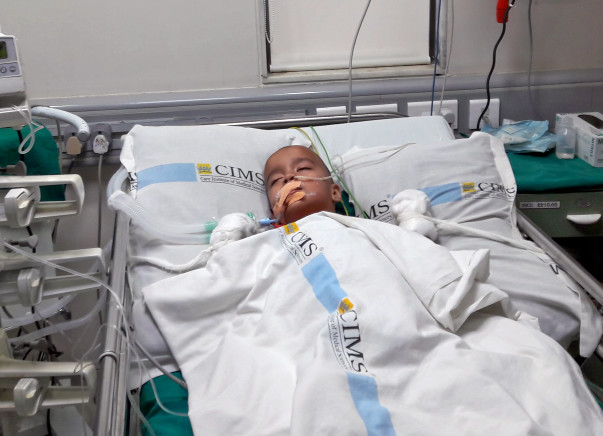 3-year-old Gomaram is suffering from a severe brain condition