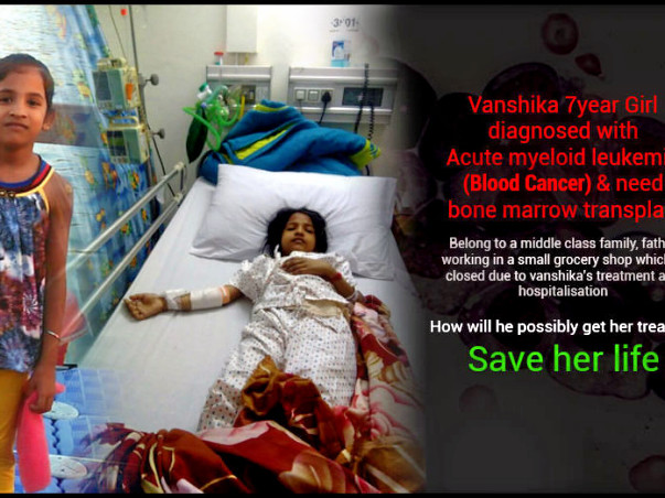 Vanshika 7year Girl diagnosed with AcuteMyeloidLeukemia (Blood Cancer)