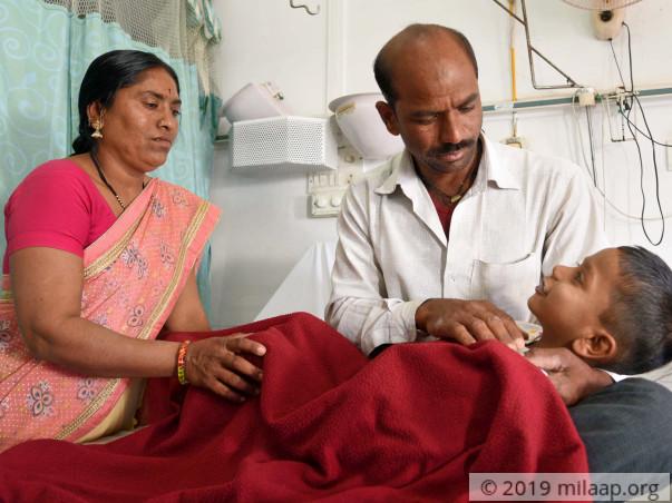 Help Master Krushna Rambhau Khandekar to fight disease