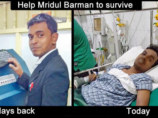 Help Mridul Barman To Survive From Brain Hemorrhage