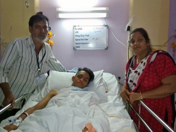 Aman met with a road accident and now needs surgery for his left arm