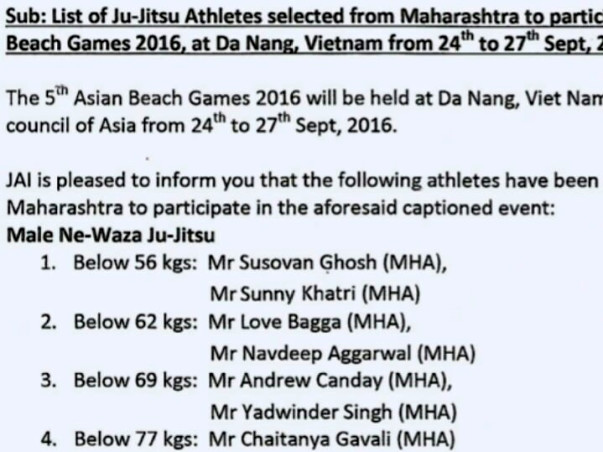 Asian beach Games Sponsorship