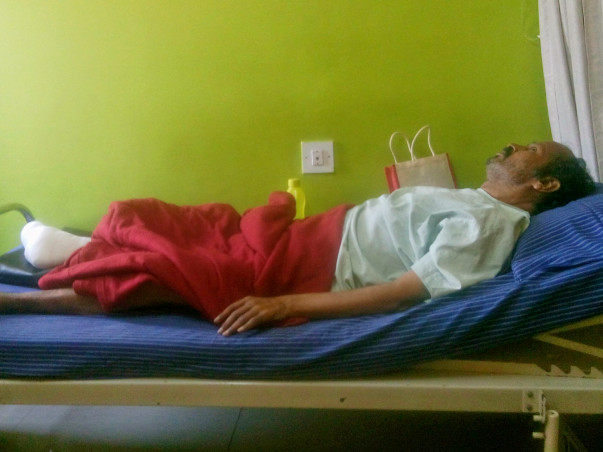 Help My Father Somashekara For Gangrene Treatment