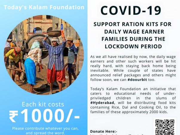 Support the slum kids and brighten their future.