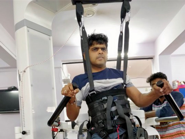 Mamillapalli Ranganath- 33 Years old, had head and Spine Cord Injury.