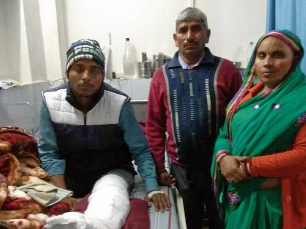 18 years old Sandeep yadav needs your help fight Multiple fracture bones