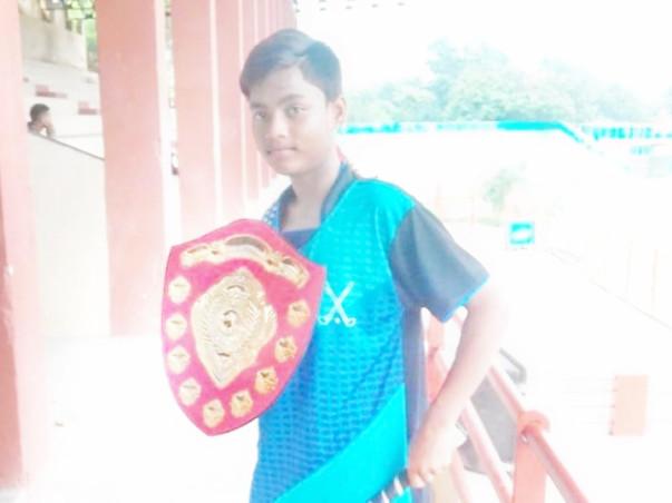 Prince Sen 15 years old child Hockey player