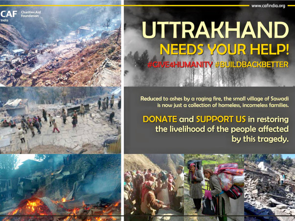 Wiped out by fire, Uttarakhand Village requires your support