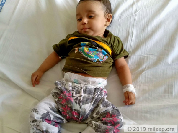 Help this 5-month-old baby fight a severe heart disease