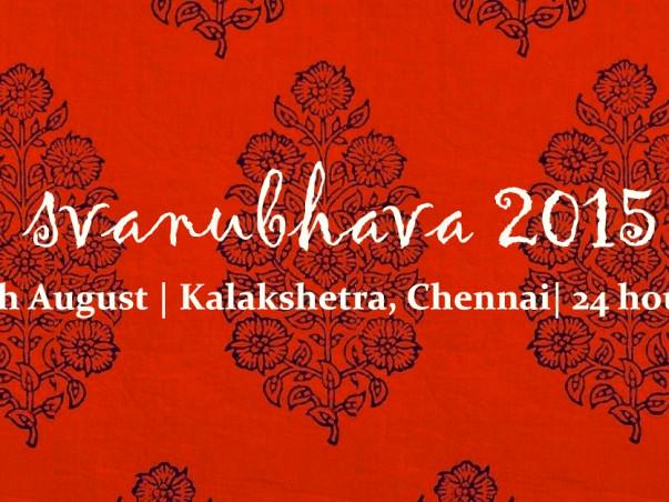 I am fundraising to svanubhava 2015