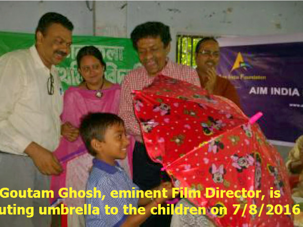 Free Distribution of Umbrella to slum dweller school children - 2017
