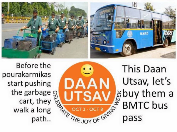 This Daan Utsav, help people like Rama get a BMTC bus pass