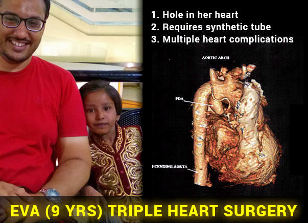Save Critical 9 Yr Old Eva (Triple Heart Surgery)