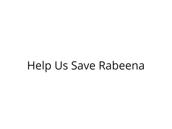 Help Rabbana Get Treated for Serious Burns