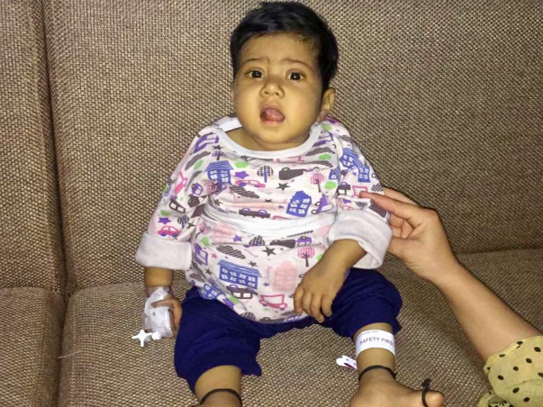 Help 4-month-old Sadia fight decompensated liver.
