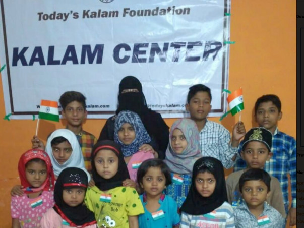 Donate for the slum children of  today's kalam foundation .