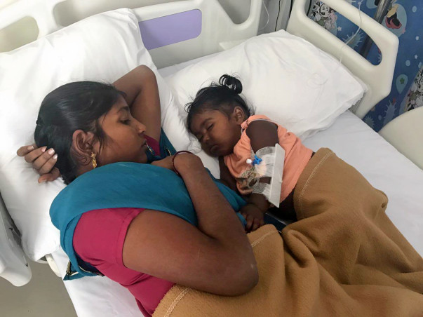 10-month-old baby Nitish is on ventilator. He needs help to survive.