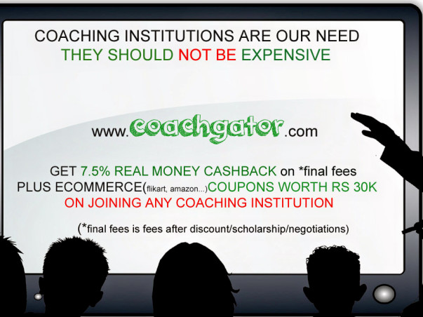Help us to reduce the fees of coaching institutes