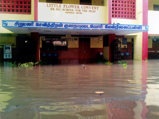 Fundraising to support flood-hit Little Flower Convent School for the Blind and Deaf in Chennai