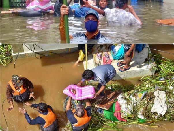 Let's stand up and help for hyderabad flood affected victims